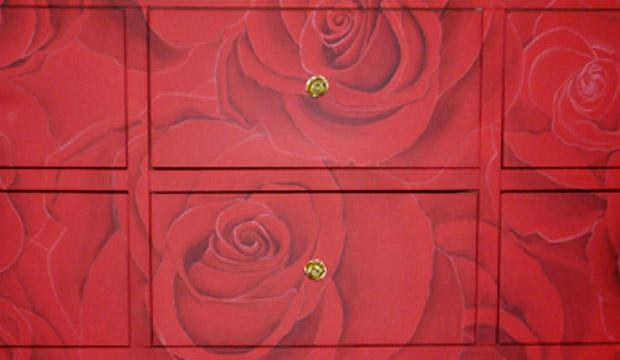 Gros plan motifs de roses