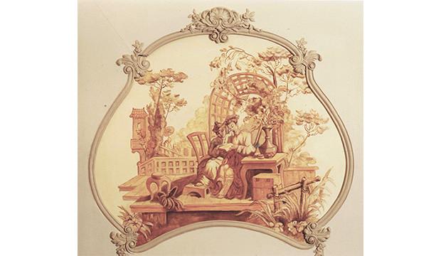 Copie toile peinte château de Fillerval