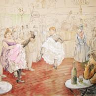 Toile peinte pour un spectacle de danse